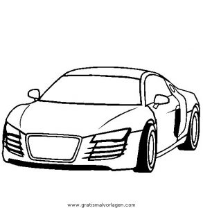Audi R4 Gratis Malvorlage In Autos Transportmittel Ausmalen