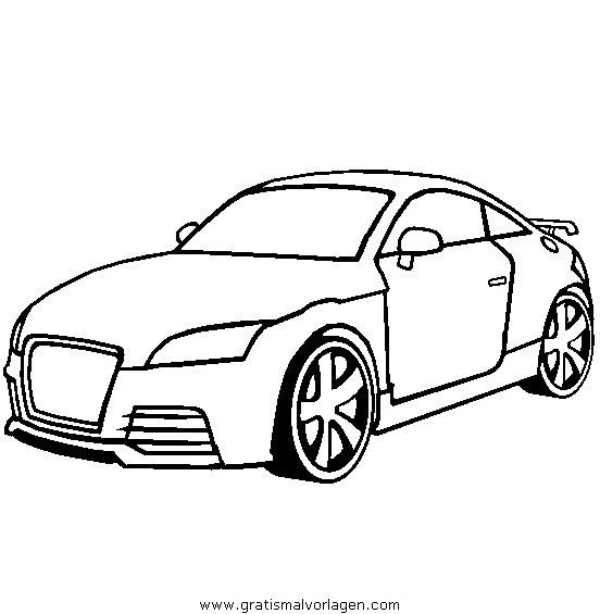 Audi TT Gratis Malvorlage In Autos, Transportmittel