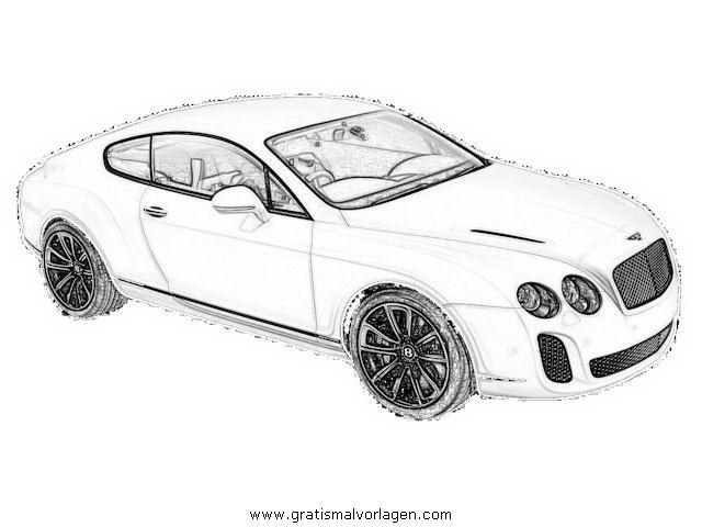 Bentley Continental 1 Gratis Malvorlage In Autos2