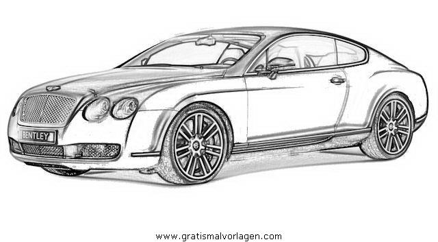 Bentley Continental 2 gratis Malvorlage