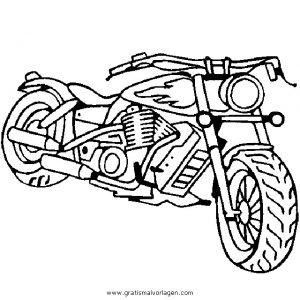 Chopper Gratis Malvorlage In Motorrad Transportmittel Ausmalen