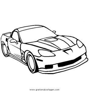 Corvette Zr1 Gratis Malvorlage In Autos Transportmittel Ausmalen