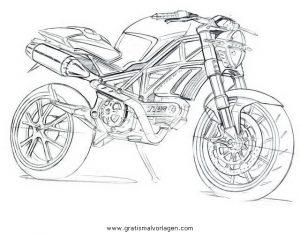 Ducati Monster Gratis Malvorlage In Motorrad Transportmittel Ausmalen