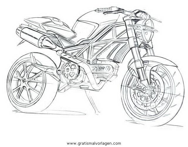 Malvorlagen Motorrad Ducati My Blog