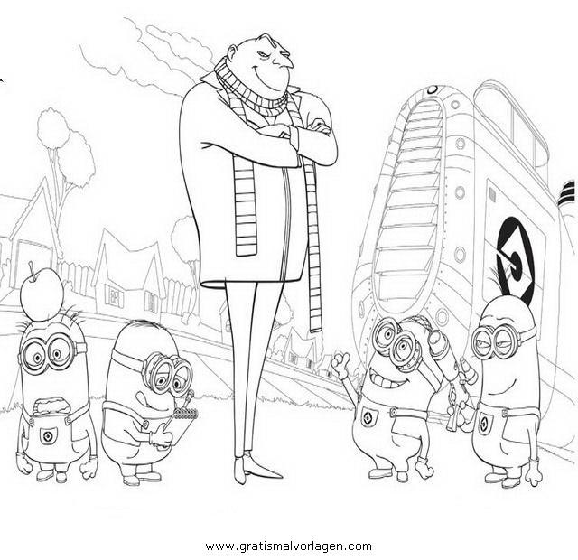 Rayman 11 Gratis Malvorlage In Comic Trickfilmfiguren: Einfach Unverbesserlich Minions 11 Gratis Malvorlage In