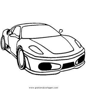 Ferrari F430 Gratis Malvorlage In Autos Transportmittel Ausmalen