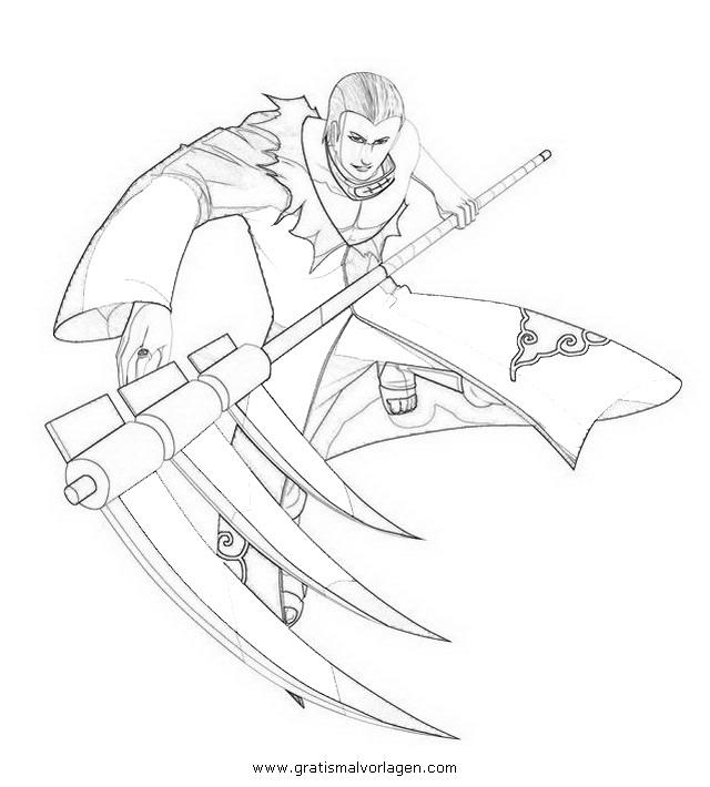hidan 7 gratis malvorlage in comic  trickfilmfiguren