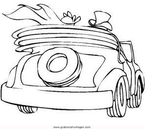 hochzeitsauto 1 gratis malvorlage in beliebt13, diverse malvorlagen - ausmalen