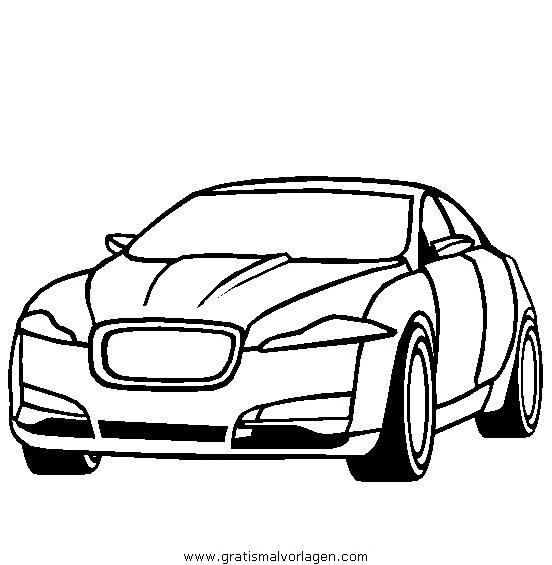 Jaguar Xf Gratis Malvorlage In Autos Transportmittel Ausmalen