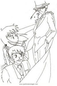 Kaito Kid 4 Gratis Malvorlage In Comic Trickfilmfiguren Detektiv Conan Ausmalen