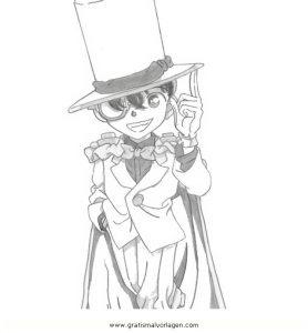 Kaito Kid 7 Gratis Malvorlage In Comic Trickfilmfiguren Detektiv Conan Ausmalen