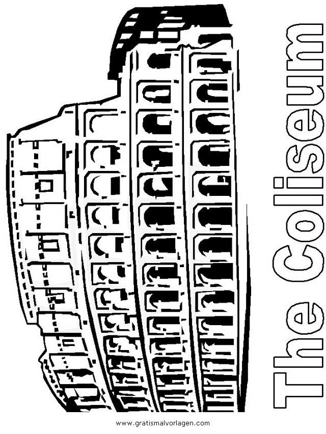 koloseum 2 gratis malvorlage in antikes rom geografie
