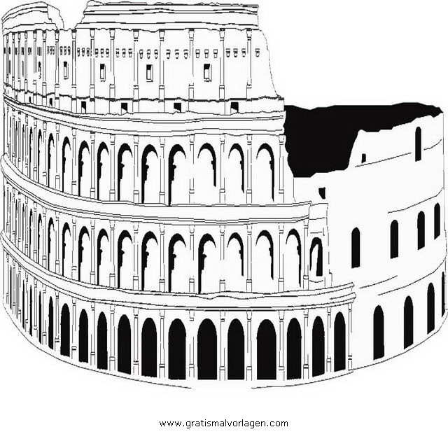 koloseum 5 gratis malvorlage in antikes rom geografie