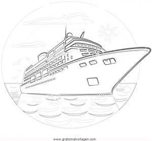 Kreuzfahrtschiff 1 Gratis Malvorlage In Schiffe Transportmittel