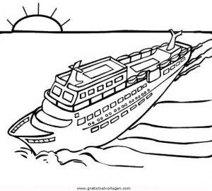 Kreuzfahrtschiff 2 Gratis Malvorlage In Schiffe Transportmittel