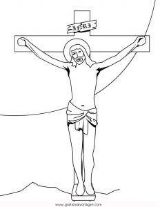Kreuzigung 1 gratis Malvorlage in Jesus, Religionen   ausmalen