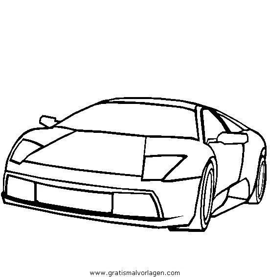 Lamborghini Murcielago Gratis Malvorlage In Autos, Transportmittel