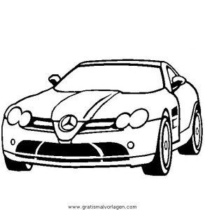 Mercedes Slr Mclaren Gratis Malvorlage In Autos Transportmittel