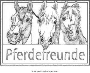pferdefreunde 1 gratis malvorlage in beliebt04, diverse malvorlagen - ausmalen