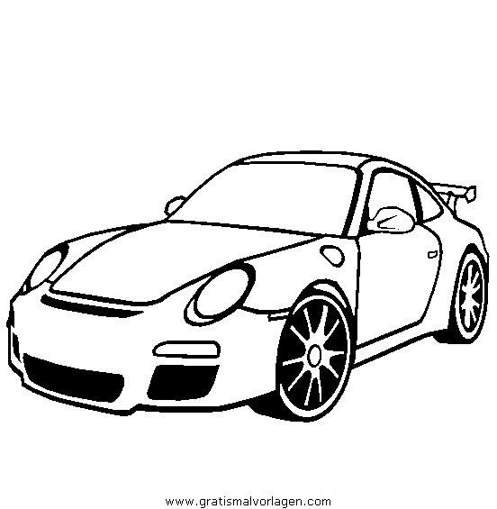 porsche 911 gratis malvorlage in autos, transportmittel