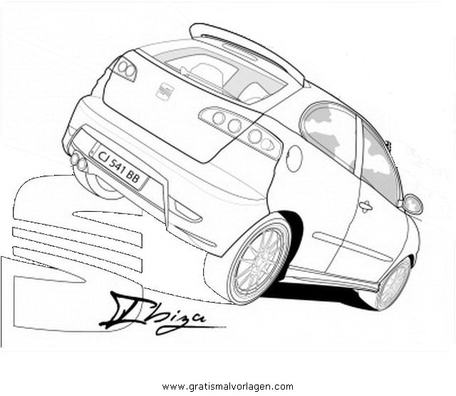 Seat Ibiza Gratis Malvorlage In Autos2 Transportmittel