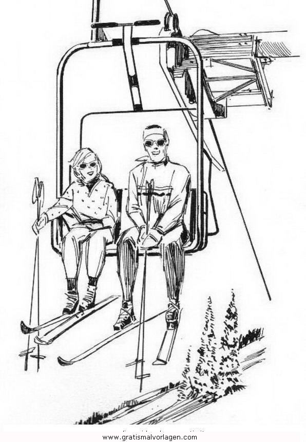 sessellift 1 gratis malvorlage in ski sport  ausmalen