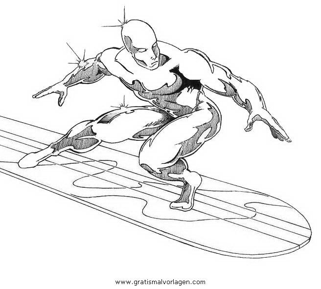 Silver Surfer 8 Gratis Malvorlage In Beliebt05 Diverse Malvorlagen Ausmalen