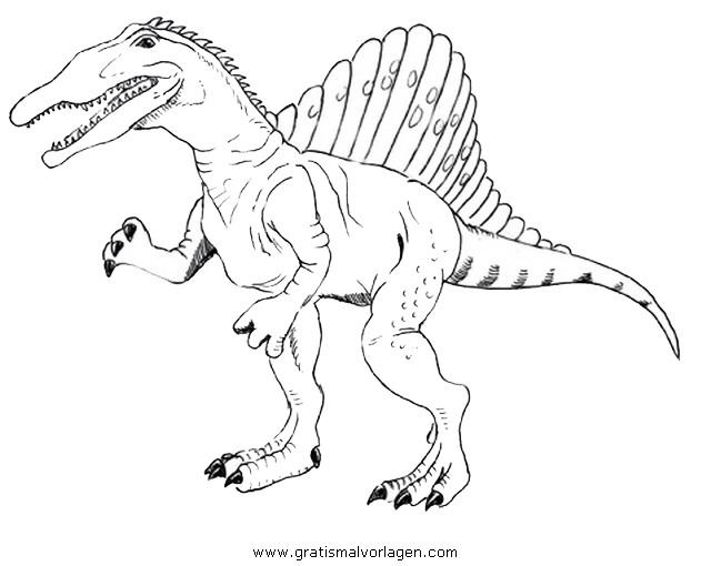 Spinosaurus002 Gratis Malvorlage In Dinosaurier Tiere