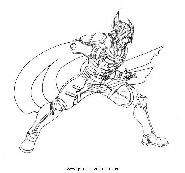 tekken coloring pages - tekken 6 gratis malvorlage in comic trickfilmfiguren