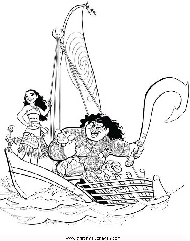 Vaiana 03 Gratis Malvorlage In Comic Trickfilmfiguren Vaiana