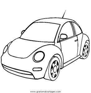 Volkswagen Beetle Gratis Malvorlage In Autos Transportmittel Ausmalen