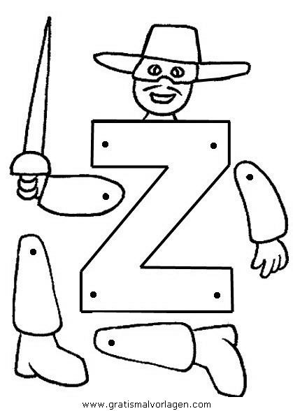 Zorro Gratis Malvorlage In Gegenstände Bauen, Spiele - Ausmalen