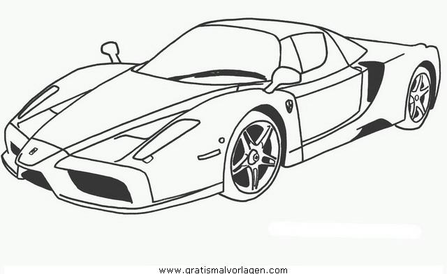 Aa Ferrari Enzo Gratis Malvorlage In Autos Transportmittel Ausmalen