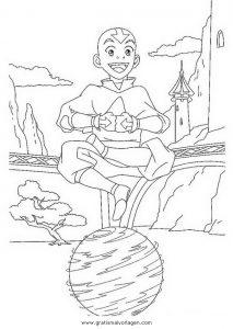 Malvorlage Aang aang 4