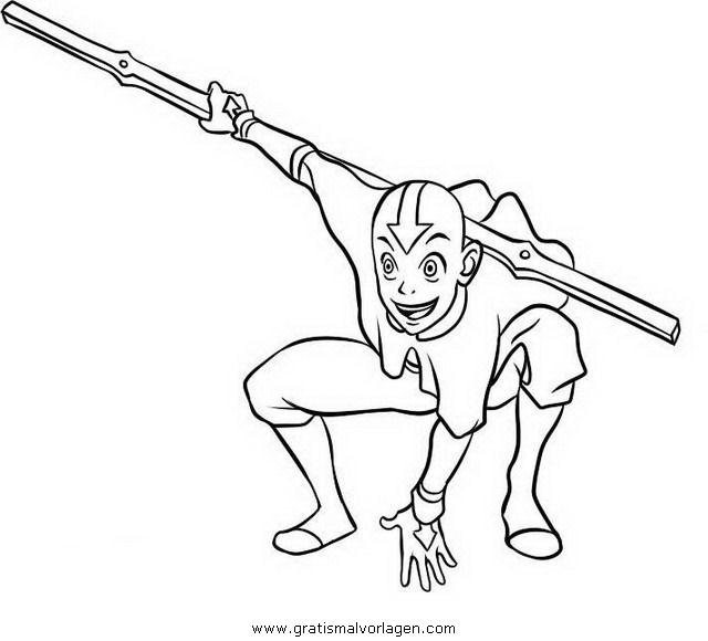 aang 8 gratis malvorlage in aang comic  trickfilmfiguren