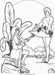 Adam Eva 13 Gratis Malvorlage In Adam Eva Religionen Ausmalen