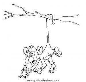 Malvorlage Affen affen 33