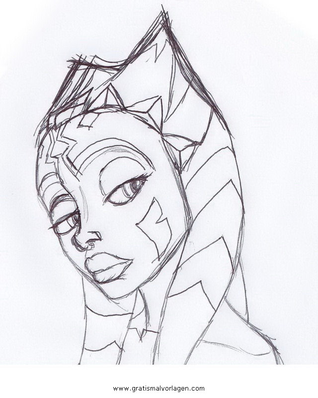 ahsoka Tano 01 gratis Malvorlage in Science Fiction, Star Wars ...