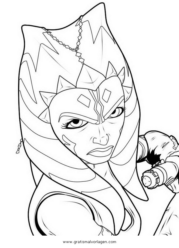 ahsoka Tano 09 gratis Malvorlage in Science Fiction, Star Wars ...
