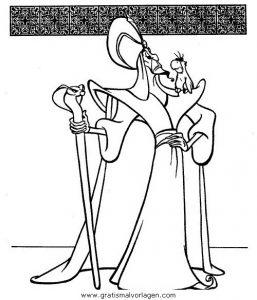 Aladdin22 Gratis Malvorlage In Aladdin Comic Trickfilmfiguren