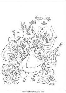 Alice Im Wunderland 10 Gratis Malvorlage In Alice Im Wunderland