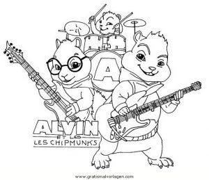 alvin chipmunk 01 gratis malvorlage in alvin der chipmunk, comic  trickfilmfiguren - ausmalen