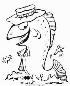 Malvorlage Angeln angeln 09