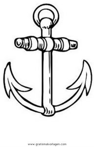 Anker 1 Gratis Malvorlage In Schiffe, Transportmittel - Ausmalen