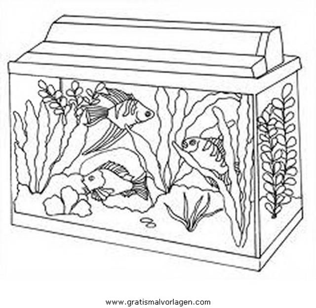 aquarium aquariumfische 01 gratis Malvorlage in Fische, Tiere - ausmalen