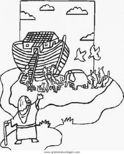 Arche Noah 16 Gratis Malvorlage In Arche Noah Religionen Ausmalen