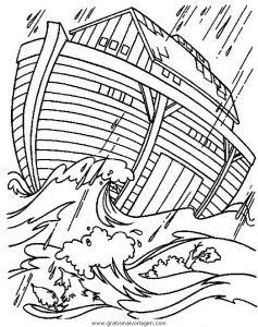 Arche Noah 21 Gratis Malvorlage In Arche Noah Religionen Ausmalen