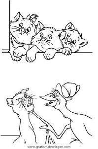 Malvorlage Aristocats aristocats 05