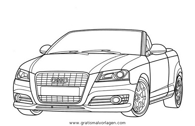 Audi A3 Gratis Malvorlage In Autos2 Transportmittel Ausmalen