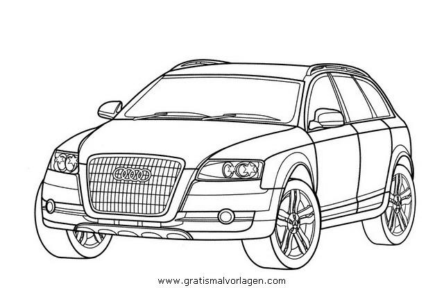 Audi Allroad Gratis Malvorlage In Autos2 Transportmittel Ausmalen